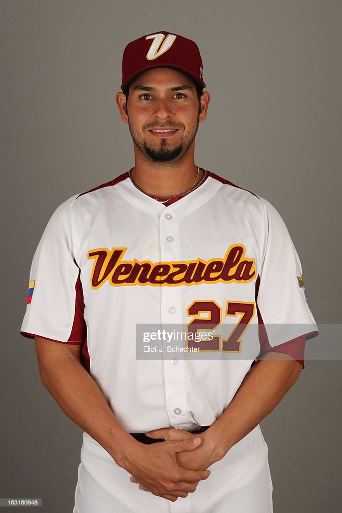 <a gi-track='captionPersonalityLinkClicked' href=/galleries/search?phrase=Anibal+Sanchez&family=editorial&specificpeople=748372 ng-click='$event.stopPropagation()'>Anibal Sanchez</a> #27 of Team Venezuela poses for a headshot for the 2013 World Baseball Classic at Roger Dean Stadium on Monday, March 4, 2013 in Jupiter, Florida.
