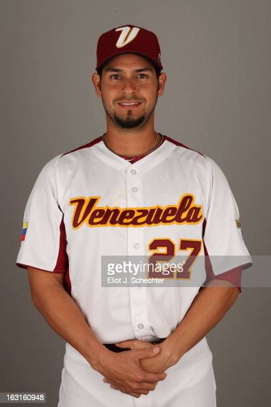 Anibal Sanchez of Team Venezuela poses for a headshot for the 2013 World Baseball Classic at Roger Dean Stadium on Monday March 4 2013 in Jupiter...