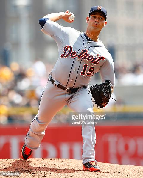 Anibal Sanchez of the Detroit Tigers pitches in the first inning against the Pittsburgh Pirates during the Opening Day game at PNC Park on April 13...