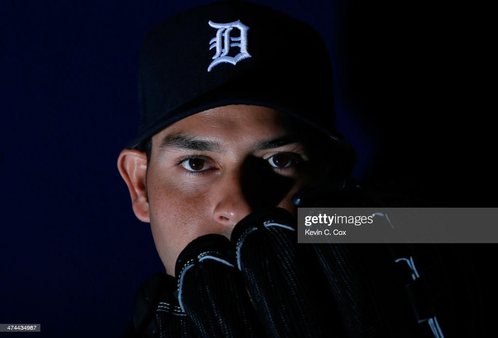 Anibal Sanchez of the Detroit Tigers poses for a portrait during photo day on February 23 2014 at Joker Marchant Stadium in Lakeland Florida