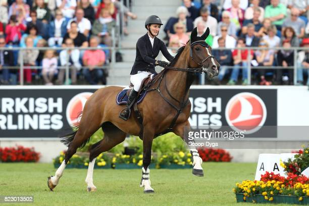 Aniek POELS riding ATHENE during the Rolex Grand Prix part of the Rolex Grand Slam of Show Jumping of the World Equestrian Festival on July 23 2017...