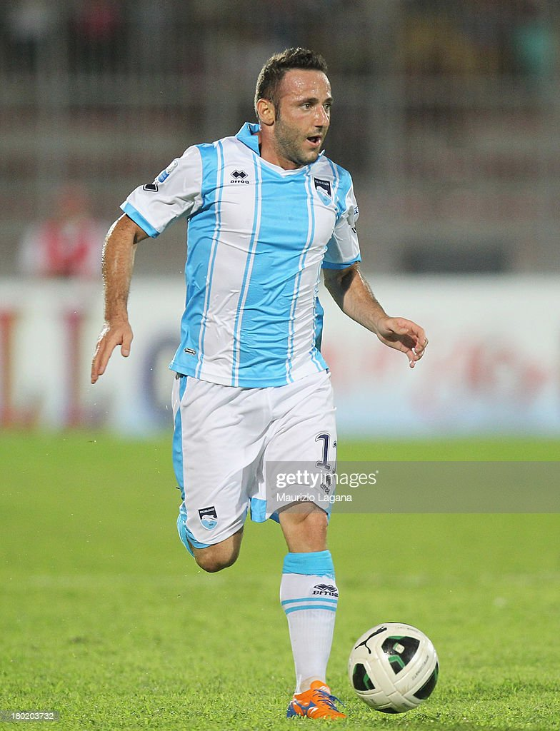 Aniello Cutolo of Pescara during the Serie B match between Trapani Calcio and Pescara Calcio at Stadio Provinciale on September 2, 2013 in Trapani, Italy.
