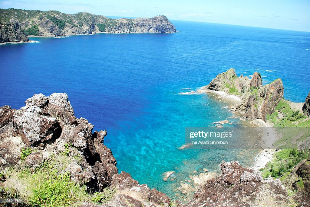 Anijima Seto the strait between Chichijima island and Anijima Island is seen on July 5 2008 in Ogasawara Tokyo Japan