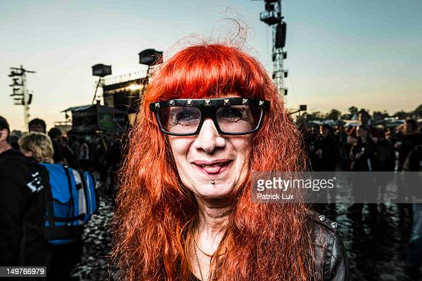 Anik a shop owner by day attends the Wacken Open Air heavy metal music fest on August 3 2012 in Wacken Germany Approximately 75000 heavy metal fans...