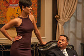 Anika and Lucious have a chat in the 'False Imposition' episode of EMPIRE airing Wednesday Jan 28 2015 on FOX