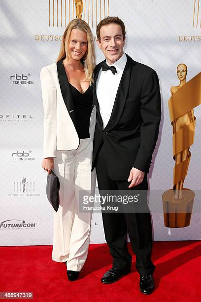 Anika Bormann and Gedeon Burkhard attend the Lola German Film Award 2014 at Tempodrom on May 09 2014 in Berlin Germany