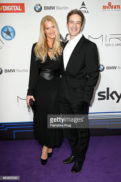Anika Bormann and Gedeon Burkhard attend the Mira Award 2014 on January 23 2014 in Berlin Germany