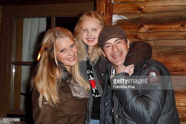 Anika Bormann Gioia Filomena Burkhard and Gedeon Burkhard attend the Dorfstadl Evening Tirol Cross Mountain 2013 on December 07 2013 in Innsbruck...