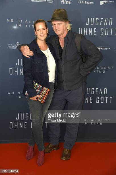 Anika Decker and Detlev Buck attend the premiere of 'Jugend ohne Gott' at Zoo Palast on August 22 2017 in Berlin Germany