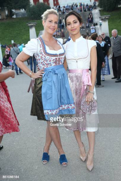 Anika Decker and Gizem Emre at the 'Madlwiesn' event during the Oktoberfest at Theresienwiese on September 21 2017 in Munich Germany