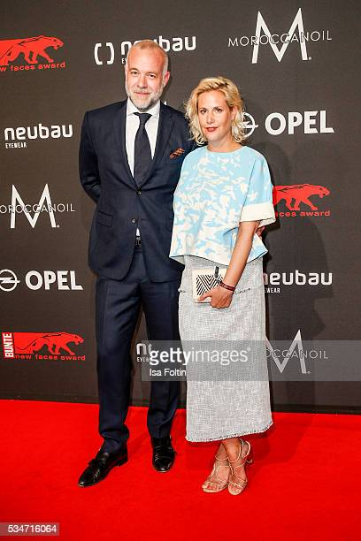 Anika Decker and guest attend the New Faces Award Film 2016 at ewerk on May 26 2016 in Berlin Germany