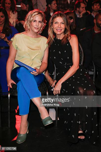 Anika Decker and Ursula Karven attend the 99FireFilmAward 2016 at Admiralspalast on February 18 2016 in Berlin Germany
