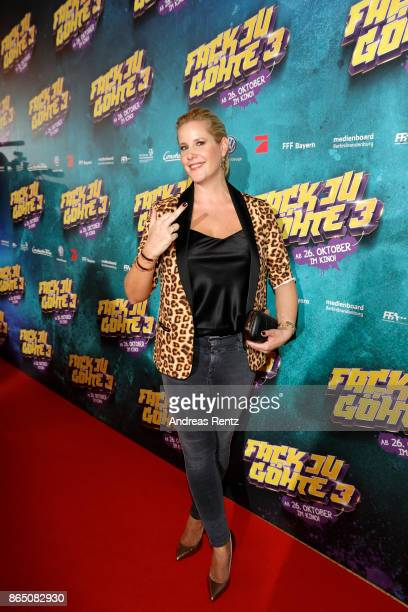 Anika Decker attends the 'Fack ju Goehte 3' premiere at Mathaeser Filmpalast on October 22 2017 in Munich Germany