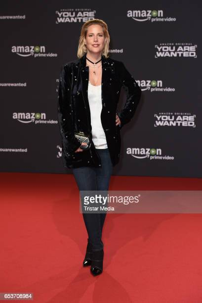 Anika Decker attends the premiere of the Amazon series 'You are wanted' at CineStar on March 15 2017 in Berlin Germany