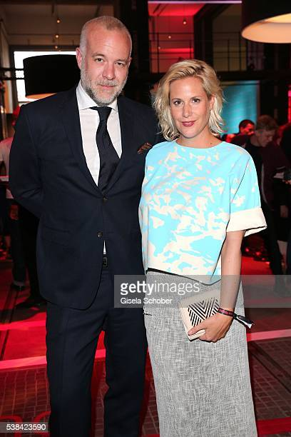 Anika Decker sreenwriter and her boyfriend Daniel Hetzer during the New Faces Award Film 2016 at ewerk on May 26 2016 in Berlin Germany