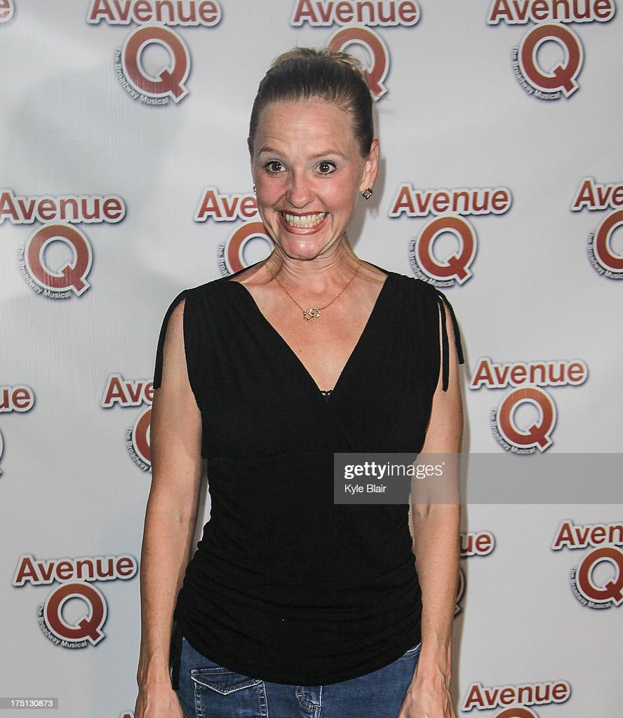 Anika Larsen attends the 'Avenue Q' 10th year anniversary performance at New World Stages on July 31, 2013 in New York City.