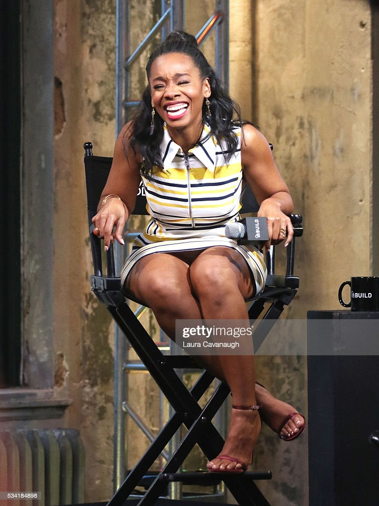 Anika Noni Rose attends AOL Build Speaker Series to discuss 'Roots' at AOL Studios In New York on May 25 2016 in New York City