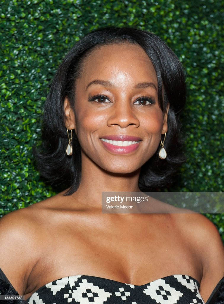 Anika Noni Rose attends House of Flowers Dinner Honoring Diahann Carroll and Cheryl Boone Isaacs at Tracey Edmonds house on October 19, 2013 in Beverly Hills, California.