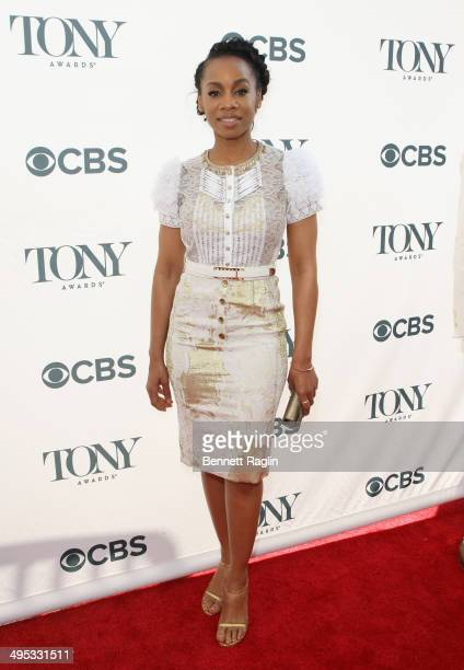 Anika Noni Rose attends the 2014 Tony Honors Cocktail Party at the Paramount Hotel on June 2 2014 in New York City