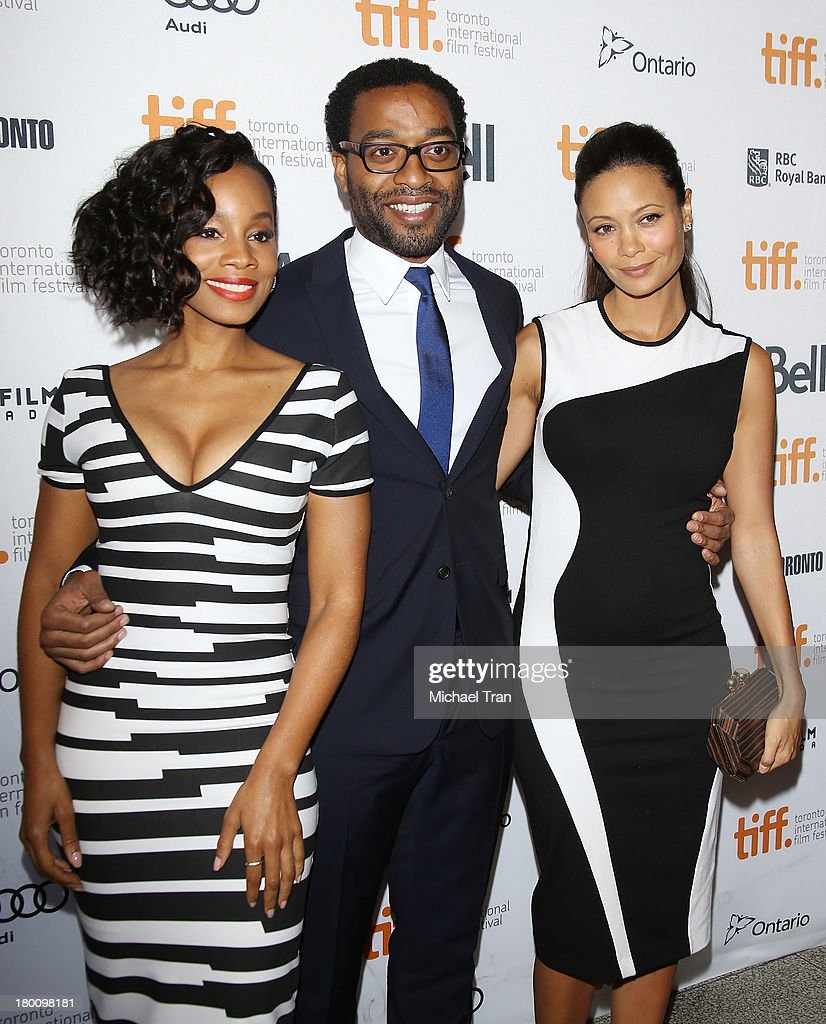 Anika Noni Rose Chiwetel Ejiofor and Thandie Newton arrive at the 'Half Of A Yellow Sun' premiere during the 2013 Toronto International Film Festival...