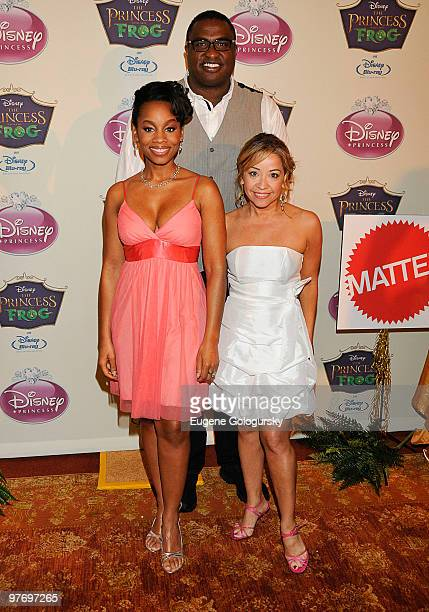 Anika Noni Rose Michael Leon Wooley and Jennifer Cody attend Princess Tiana's official induction into the Disney Princess Royal Court and 'The...