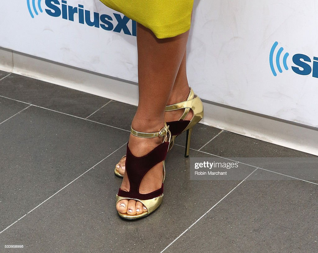 <a gi-track='captionPersonalityLinkClicked' href=/galleries/search?phrase=Anika+Noni+Rose&family=editorial&specificpeople=227294 ng-click='$event.stopPropagation()'>Anika Noni Rose</a>, shoe detail, visits at SiriusXM Studios on May 24, 2016 in New York City.