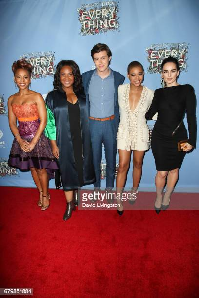 Anika Noni Rose Stella Meghie Nick Robinson Amandla Stenberg and Ana de la Reguera attend the screening of Warner Bros Pictures' 'Everything...