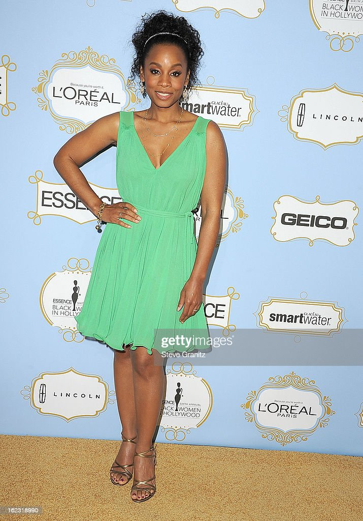 Anika Noni-Rose arrives at the 6th Annual ESSENCE Black Women In Hollywood Luncheon at Beverly Hills Hotel on February 21, 2013 in Beverly Hills, California.