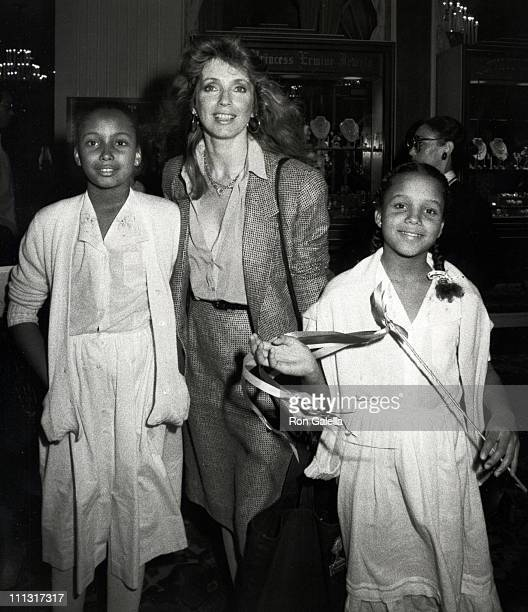 Anika Poitier Joanna Shimkus and Paula Poitier during 1983 Young Musicians Annual Celebrity Mother Daughter Fashion Show Luncheon at Beverly Hilton...