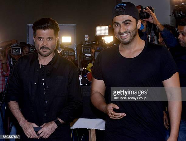 Anil Kapoor and Arjun Kapoor during the special screening of film Dangal in Mumbai