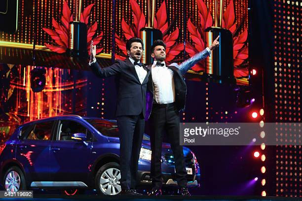 Anil Kapoor and Ranveer Singh attend the 17th IIFA Awards ceremony at Ifema on June 25 2016 in Madrid Spain