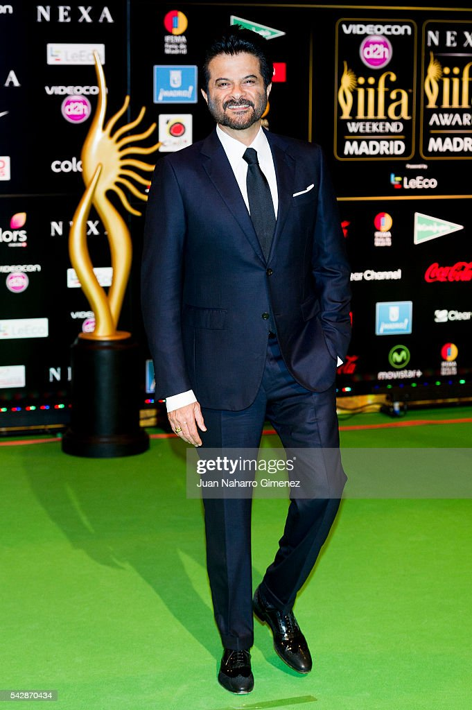 <a gi-track='captionPersonalityLinkClicked' href=/galleries/search?phrase=Anil+Kapoor&family=editorial&specificpeople=563857 ng-click='$event.stopPropagation()'>Anil Kapoor</a> attends IIFA Awards 2016 - Rocks Green Carpet at Ifema on June 24, 2016 in Madrid, Spain.