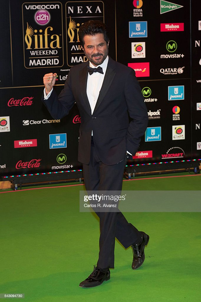 <a gi-track='captionPersonalityLinkClicked' href=/galleries/search?phrase=Anil+Kapoor&family=editorial&specificpeople=563857 ng-click='$event.stopPropagation()'>Anil Kapoor</a> attends the 17th IIFA Awards (International Indian Film Academy Awards) at Ifema on June 25, 2016 in Madrid, Spain.