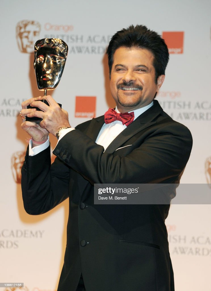 <a gi-track='captionPersonalityLinkClicked' href=/galleries/search?phrase=Anil+Kapoor&family=editorial&specificpeople=563857 ng-click='$event.stopPropagation()'>Anil Kapoor</a> poses in the press room at the Orange British Academy Film Awards 2012 at The Royal Opera House on February 12, 2012 in London, England.