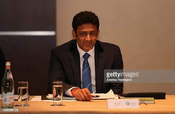 Anil Kumble during the ICC Cricket Committee meeting at Lord's on May 28 2013 in London England