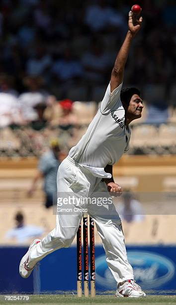 Anil Kumble of India in action during day three of the Fourth Test between Australia and India at Adelaide Oval January 26 2008 in Adelaide Australia