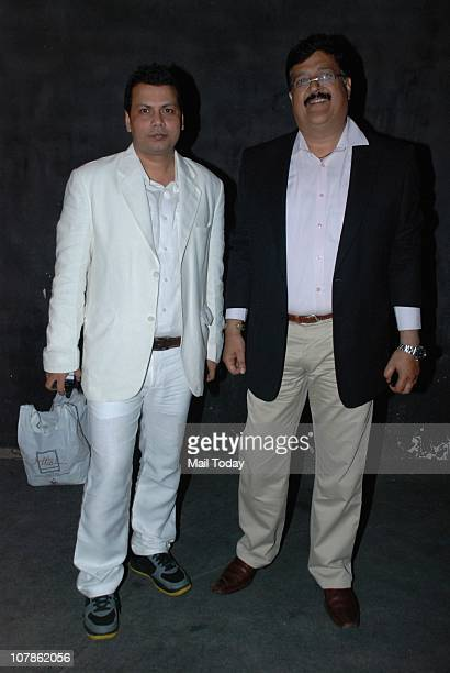 Anil Mishra with Priyanka Chopra's father DrAshok Chopra at Salma Agha's bash at Dockyard in Mumbai