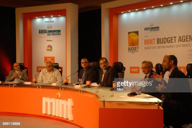 Anil Singhvi CMD of ICAN Advisors Pvt Ltd K P Singh Sectetary of the Economic Advisory Council to Prime Minister R Sukumar Editor of Mint Haseeb...