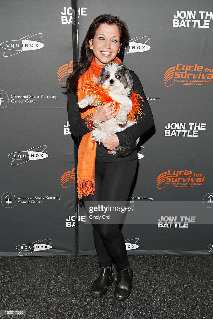 Animal Fair founder Wendy Diamond and Baby Hope Diamond attend the 2013 Cycle For Survival Benefit at Equinox Rock Center on March 3, 2013 in New York City.