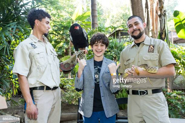 Animal Handler Dmetri Domerick Actor Jax Malcolm and Francisco Moran attend the 50th Anniversary Beastly Ball at the Los Angeles Zoo on May 20 2017...
