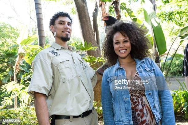 Animal Handler Dmetri Domerick and Breegan Jane attend the 50th Anniversary Beastly Ball at the Los Angeles Zoo on May 20 2017 in Los Angeles...