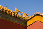 Animal Sculptures on Roof of Forbidden City
