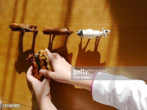 Animal toys : Stock Photo