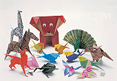 Animals, origami, assorted