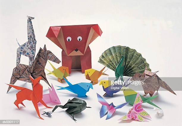 Animals, origami, assorted
