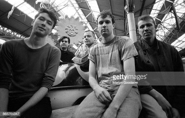 Animals That Swim group portrait London United Kingdom 1993 Hank Starrs centre front