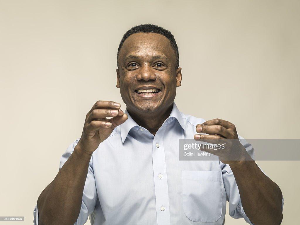 Animated happy black man