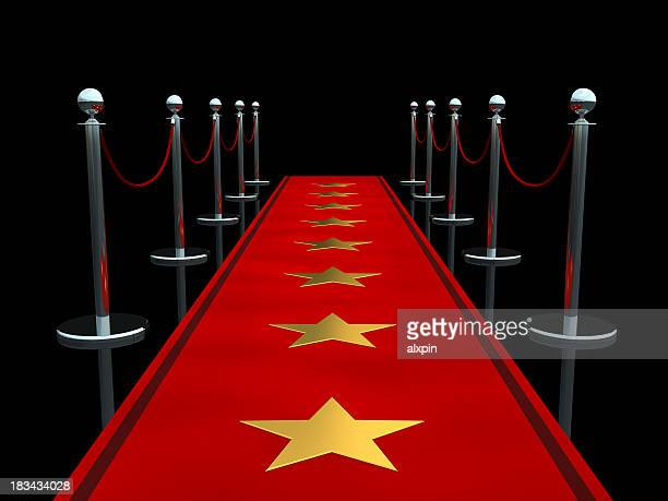 Animated red carpet with starts