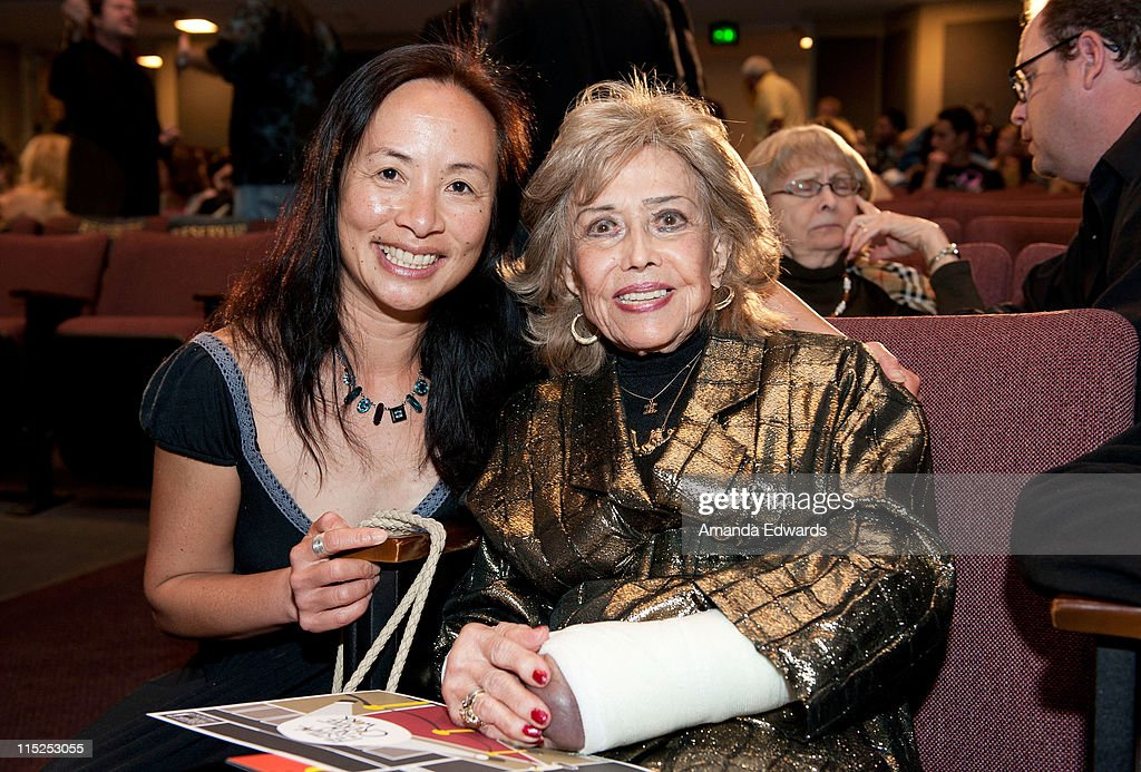 Animation instructor Tami Tsark (L) and voice actress June Foray attend the UCLA Animation Workshop Festival of Animation at the James Bridges Theater at Melnitz Hall on the UCLA campus on June 4, 2011 in Los Angeles, California.