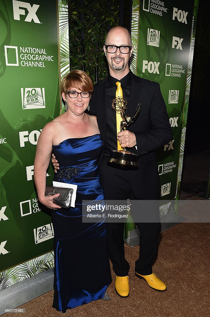 Animator Charles Ragins and wife Kristin Woehl Ragins attend the FOX 20th Century FOX Television FX Networks and National Geographic Channel's 2014...